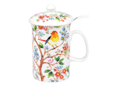 """Ashdene Kubek porcelanowy z zaparzaczem do herbaty 16133 """"drzewko życia"""""""