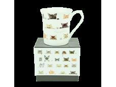 """Ashdene Kubek porcelanowy 16150 """"ciekawskie kotki"""""""