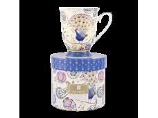 """Ashdene Kubek porcelanowy 16241 """"paw fantazyjny niebieski"""""""