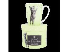"""Ashdene Kubek porcelanowy 16337 """"psotne kotki zielony"""""""