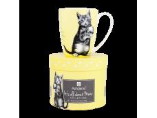 """Ashdene Kubek porcelanowy 16338 """"psotne kotki żółty"""""""