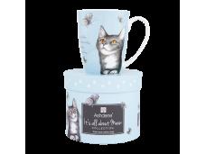 """Ashdene Kubek porcelanowy 16339 """"psotne kotki niebieski"""""""