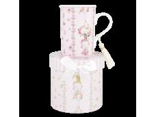 "Ashdene Kubek porcelanowy 16394 ""pink rose stripe"""