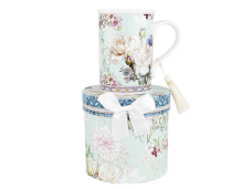"Ashdene Kubek porcelanowy 16395 ""white rose blue"""