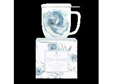 """Ashdene Kubek porcelanowy z zaparzaczem do herbaty 16421 """"kwitnący kwiat"""""""