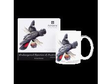 """Ashdene Kubek porcelanowy 16477 """"zagrożone gatunki zwierząt - czerwonoogoniaste kakadu"""""""