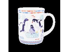 "Ashdene Kubek porcelanowy 16482 ""błękit morza - pingwiny"""