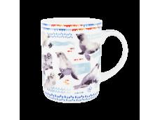 "Ashdene Kubek porcelanowy 16485 ""błękit morza - foki"""