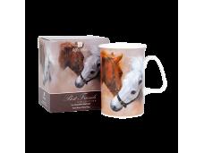 """Ashdene Kubek porcelanowy 16625 """"konie - najlepsi przyjaciele"""""""