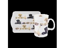 "Ashdene Kubek porcelanowy z tacką  16893 ""psy"""