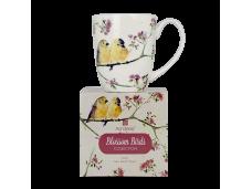 """Ashdene Kubek porcelanowy 16949 """"ptaki w kwiatach"""""""