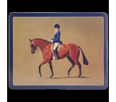 """Ashdene Podkładki korkowe duże 10921 """"Konie - jeździec"""""""
