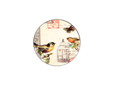 "Ashdene Podkładki okrągłe 20012 ""poczta - ptaki"""