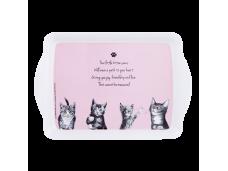 """Ashdene Tacka mała 89563 """"psotne kotki"""" różowa"""