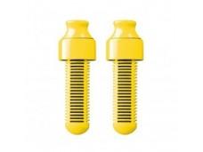 Filtr węglowy do butelki Bobble żółty dwupak