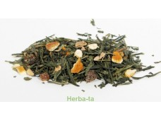 "herbata zielona z dodatkami ""Pigwa - imbir"""