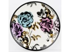 """Ashdene Talerzyk porcelanowy koktajlowy 16201 """"ogród kwiatów - róża"""""""