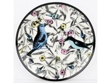 """Ashdene Talerzyk porcelanowy koktajlowy 16202 """"ogród kwiatów - ptaki"""""""