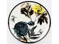 """Ashdene Talerzyk porcelanowy koktajlowy 16203 """"ogród kwiatów - peonia"""""""