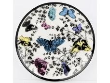 """Ashdene Talerzyk porcelanowy koktajlowy 16204 """"ogród kwiatów - motyle"""""""