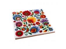 Nanaelo podstawka ceramiczna kwiaty łowicz
