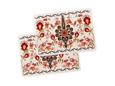 Nanaelo podkładki drewniane duże parzenica w kwiatach podhale