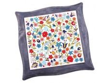 Nanaelo podstawka ceramiczna kwiaty niebieska ramka kaszuby
